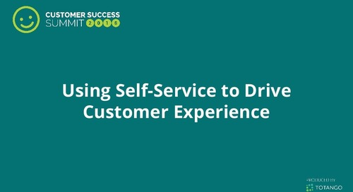 Using Self-Service to Drive Customer Experience