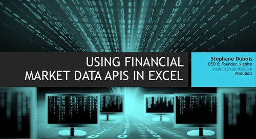 Using Financial Market Data APIs in Microsoft Excel