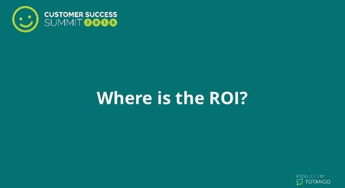 Where is the ROI? Justifying a Renewal or Upsell Using Actual Customer Usage Data