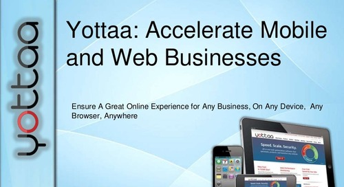 Webinar: Yottaa State of Web Performance Optimization (Recording)
