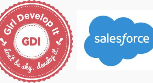 Salesforce Expands Partnership with Girl Develop It—Get Involved!