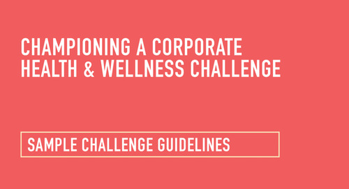 Health and Wellness Challenge: Sample Guidelines