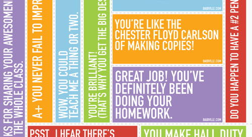 Teacher Appreciation Print-n-Posts