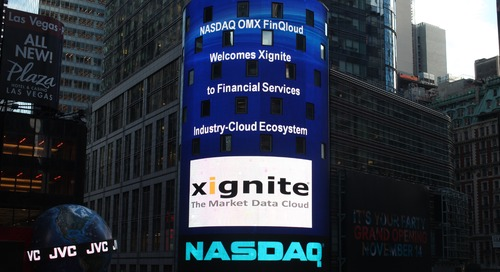 Xignite Joins NASDAQ OMX FinQloud to Enhance Data Storage and Computing Resources