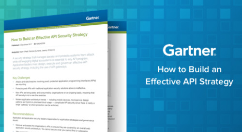 Gartner Report: How to Build an Effective API Security Strategy
