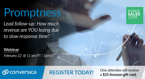 February 22 at 11 am PT / 2 pm ET: Webinar- Lead Follow-Up Webinar: How much revenue are YOU losing due to slow response time?