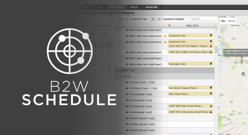 B2W Schedule Now Available