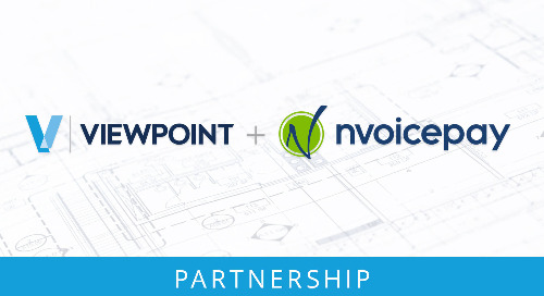Announcing Viewpoint + Nvoicepay Partnership