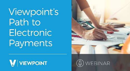 Webinar: Viewpoint's Path to Electronic Payments