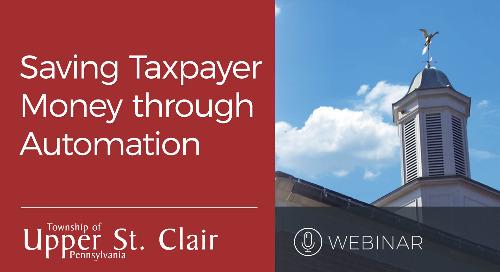 Webinar: Saving Taxpayer Money Through Automation