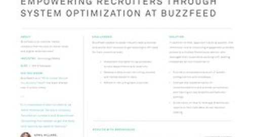Empowering Recruiters Through System Optimization at BuzzFeed Consulting