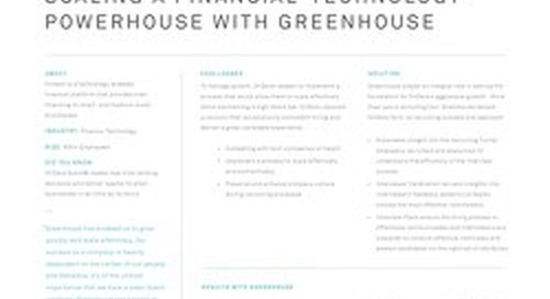 Scaling Financial-Technology Powerhouse OnDeck with Greenhouse