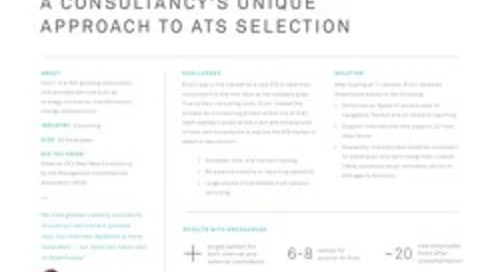 Elixirr Consultancy's Unique Approach to ATS Selection