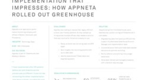 Implementation That Impresses: How Appneta Rolled Out Greenhouse
