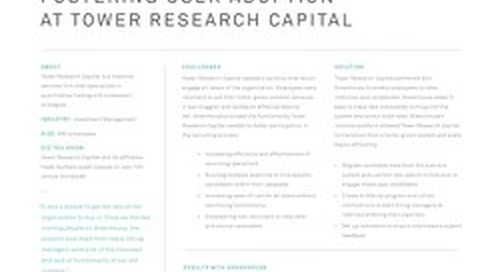 Fostering User Adoption at Tower Research Capital