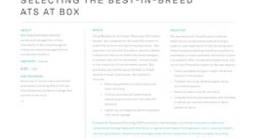 Selecting the Best-in-Breed ATS at Box