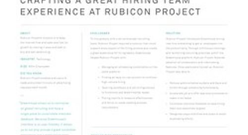 Crafting a Great Hiring Team Experience at Rubicon Project