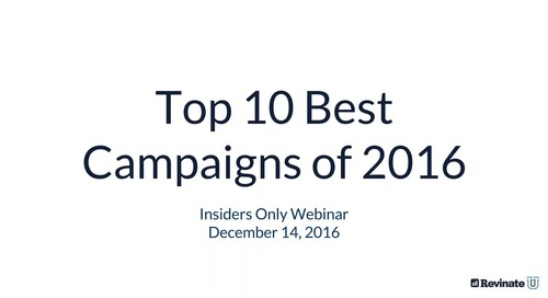 Top Performing Email Campaigns of 2016
