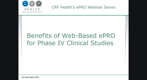 Benefits of Web-Based ePRO for Phase IV Clinical Trials