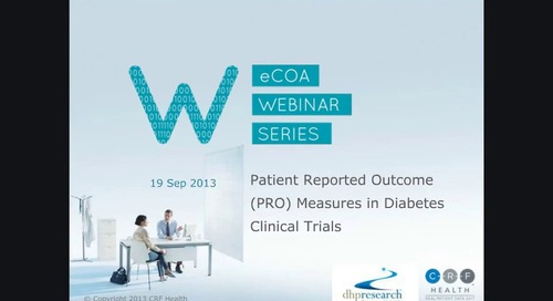 Patient Reported Outcome Measures in Diabetes Clinical Trials