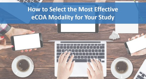 How to Select Most Effective eCOA Modality for Your Study