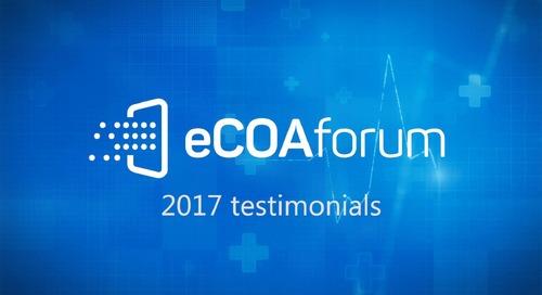 eCOA Forum 2017 - Attendee Testimonials