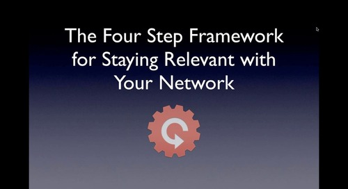 The Four Step Framework for Staying Relevant with Your Network