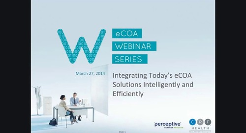 Integrating Today's eCOA Solutions Intelligently and Efficiently