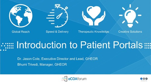 The Integration of Patient Portals & eCOA Systems