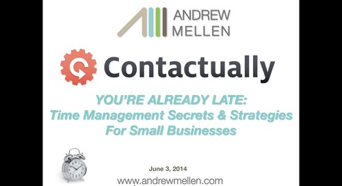 You're Already Late!: Time Management Secrets & Strategies for Small Businesses