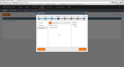 Demo - Netskope and Titus - App instances