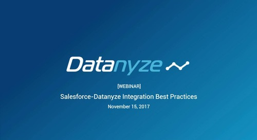Salesforce-Datanyze Integration Best Practices