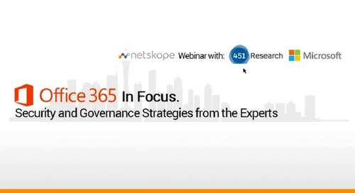 Office 365 In Focus. Security and Governance Strategies from the Experts