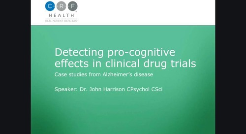 Alzheimer's Disease: Detecting Pro-Cognitive Effects in Clinical Drug Trials
