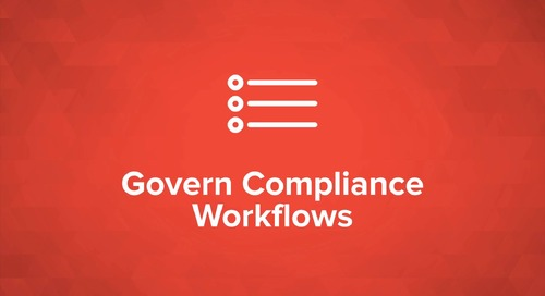 Govern Compliance Workflows