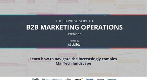 [Webinar] The Definitive Guide to B2B Marketing Operations