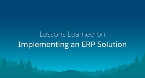 Lessons Learned on Implementing an ERP Solution