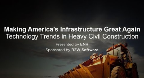 B2W & ENR Webinar: Making America's Infrastructure Great Again