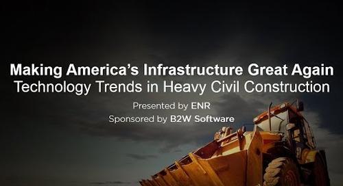 B2W & ENR Webinar: Making America's Infrastructure Great Again