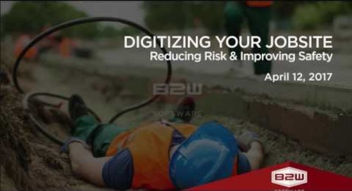 Digitizing Your Jobsite