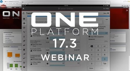 B2W Webinar – What's New ONE Platform 17.3