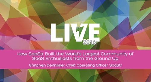 How SaaStr Built the World's Largest Community of SaaS Enthusiasts with SaaStr COO