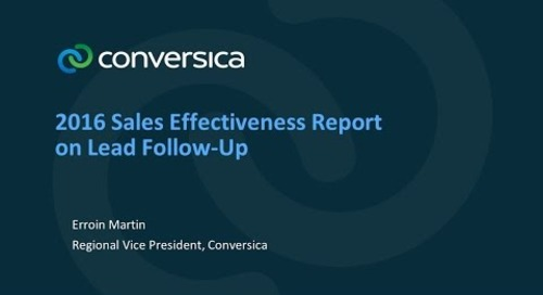 2016 Sales Effectiveness Report on Lead Follow-Up