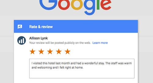 Revinate now offers Google review publishing for Revinate Surveys™