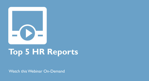 Top 5 HR Reports for Human Capital Management