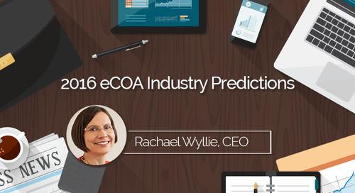 2016 eCOA Industry Predictions:  eCOA Trends