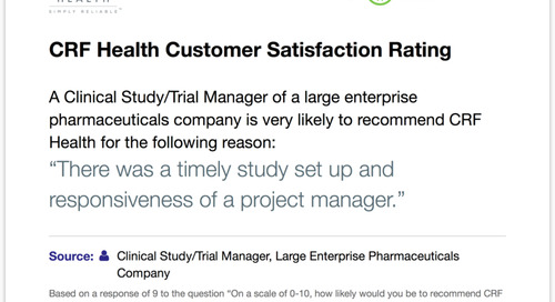 Rating: Timely Study Set Up and Responsive Project Management