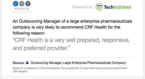 Testimonial: CRF Health Prepared, Responsive and Preferred Provider