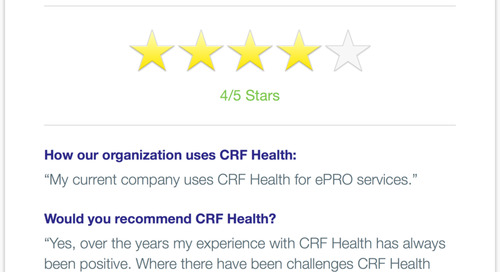 CRF Health Recommended for Consistently Positive Results