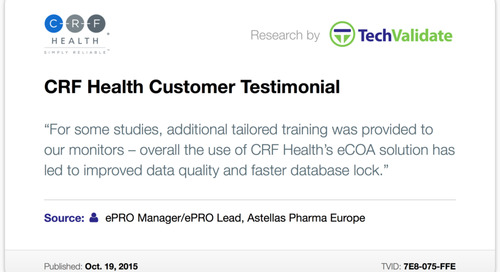 Testimonial: CRF Health Leads to Improved Data Quality, Faster Database Lock